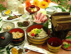 耶馬溪錦雲豚と蕎麦ソーメン(6~9月)